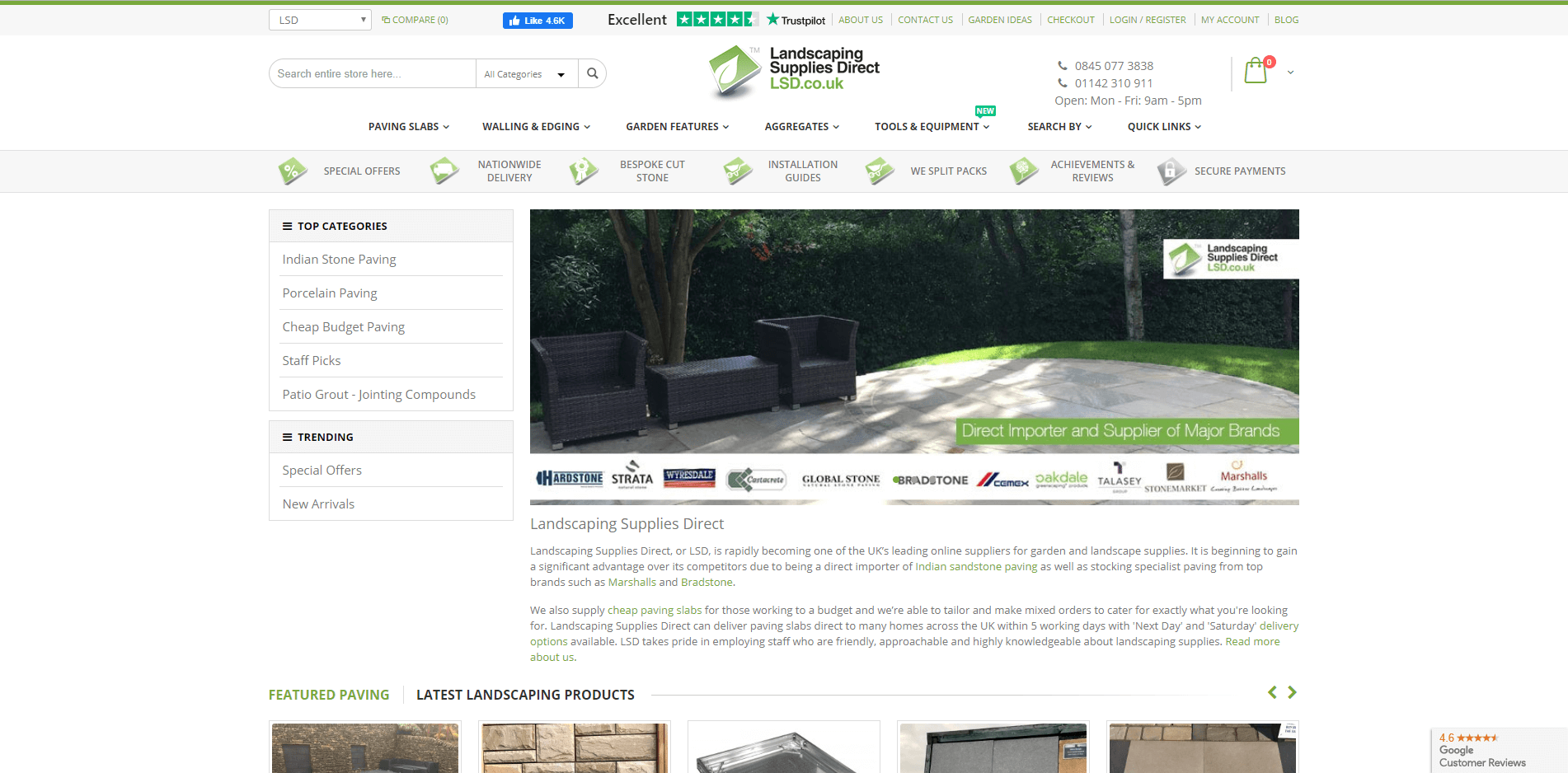 Landscaping supplies direct