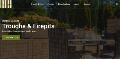 Blooming Troughs - web design portfolio